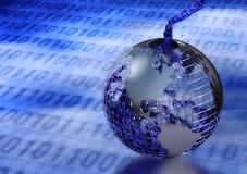 Enchendo o mundo com a informação digital Foto de Stock Royalty Free