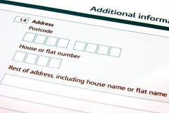 Enchendo um formulário Imagens de Stock