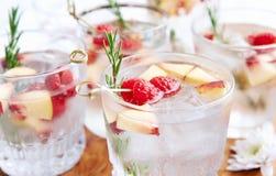 Enchido com o sabor frutado - cocktail fotografia de stock
