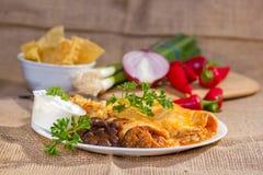 Enchilada νοτιοδυτικού βόειου κρέατος. Στοκ Εικόνα