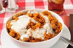 Enchilada casserole Royalty Free Stock Image