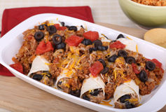 Enchilada Dinner Stock Photo
