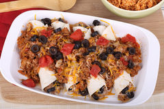 Enchilada Meal Royalty Free Stock Photos