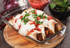 Enchilada mexicano fotografia de stock royalty free
