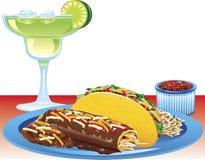 enchilada posiłek royalty ilustracja