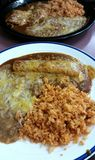 Mexican Food Enchilada Rice and Beans  Royalty Free Stock Image