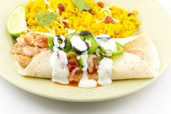 Enchilada Rice Royalty Free Stock Photography