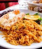 Enchilada with tomato rice Stock Photo