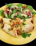 enchiladas 1 βόειου κρέατος φασολιών Στοκ εικόνα με δικαίωμα ελεύθερης χρήσης