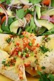 Enchiladas 2 da carne e do feijão Foto de Stock Royalty Free