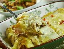 Enchiladas crémeuses de poulet de Pepperjack image stock