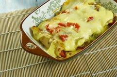 Enchiladas crémeuses de poulet de Pepperjack photographie stock