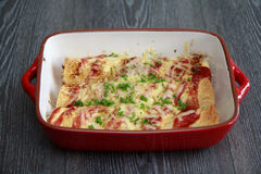 Enchiladas da galinha & do chouriço Imagem de Stock