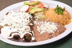 Enchiladas DE mole Royalty-vrije Stock Fotografie