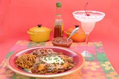 Enchiladas with Margarita Royalty Free Stock Images