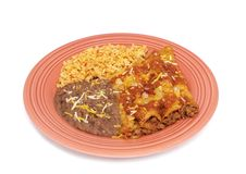 Enchiladas mexicanos Fotos de Stock Royalty Free