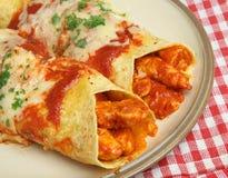 Enchiladas mexicanos del pollo Fotografía de archivo libre de regalías