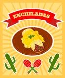 Enchiladas plakatowi royalty ilustracja
