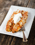 Enchiladas on a Plate - Mexican Food Royalty Free Stock Photo