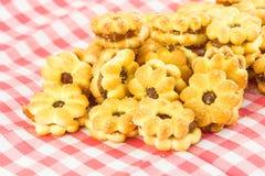 Enchimento do abacaxi dos biscoitos Foto de Stock