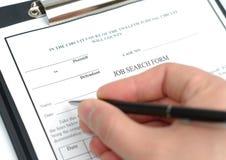 Enchimento do formulário foto de stock