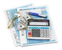 Enchimento do formulário de imposto 1040 ilustração stock