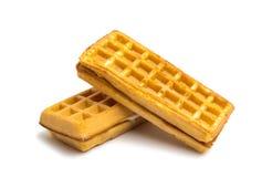 enchimento dos waffles isolado Fotos de Stock