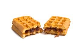 enchimento dos waffles isolado Fotografia de Stock