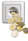 Enchufe con el dinero Fotografía de archivo libre de regalías