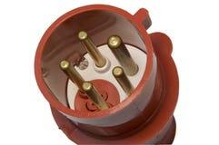 enchufe de alto voltaje de la CA Imagen de archivo libre de regalías