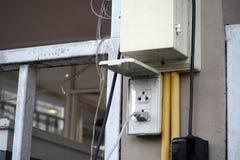 Enchufe de la electricidad Fotos de archivo libres de regalías