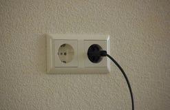 Enchufe de pared Foto de archivo libre de regalías