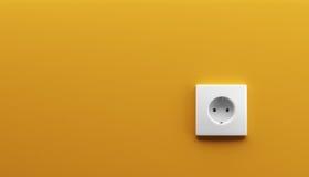 Enchufe de pared blanco Fotografía de archivo
