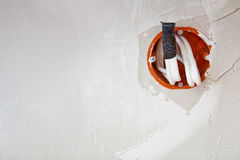 Enchufe de potencia de la pared Fotografía de archivo libre de regalías