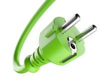 Enchufe de potencia verde Concepto de Eco Imagenes de archivo