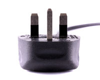 Enchufe de tres dientes Imagen de archivo