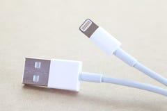 Enchufe del cable del USB Imagenes de archivo