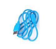 Enchufe del cable del USB aislado en el fondo blanco Imágenes de archivo libres de regalías