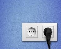 Enchufe eléctrico Imagen de archivo libre de regalías