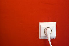 Enchufe eléctrico Foto de archivo libre de regalías