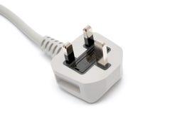 Enchufe eléctrico aislado en blanco Imagenes de archivo