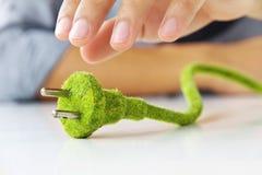 Enchufe eléctrico de Eco Foto de archivo libre de regalías