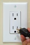 Enchufe eléctrico Fotos de archivo