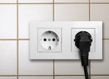 Enchufe eléctrico Fotografía de archivo libre de regalías
