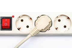 Enchufe eléctrico y socket Fotos de archivo