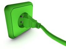enchufe energia Υ Στοκ Φωτογραφία