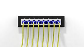 Enchufe múltiple de la red con los cables Imágenes de archivo libres de regalías
