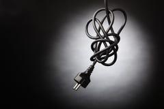 Enchufe negro Fotografía de archivo libre de regalías