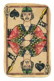 Enchufe usado viejo del naipe de las espadas aisladas Fotografía de archivo