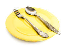 Enchufe y cuchara Imagen de archivo